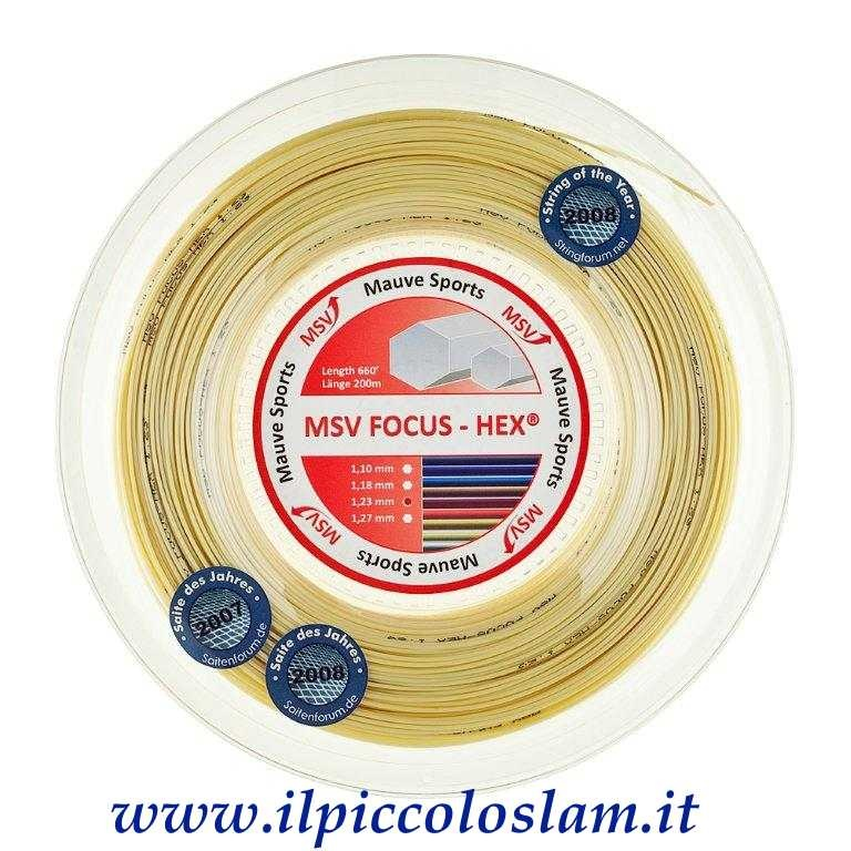 MSV Focus Hex 1,23 mm NATURAL ( Matassa da 200 m ) - MSV